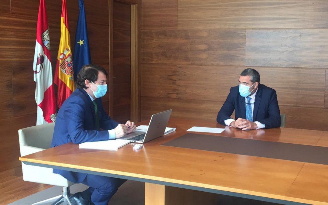 Por Ávila traslada al presidente de la Junta de Castilla y León sus propuestas para el reparto de fondos europeos